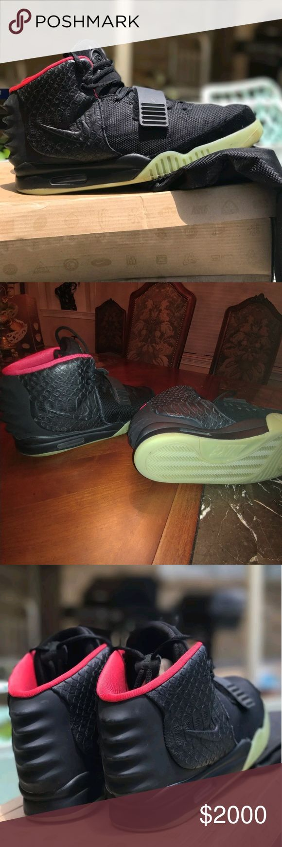 Nike Air Yeezy 2 Solar Red Size 11 Authentic Size 11  100% authentic Shoes Sneakers