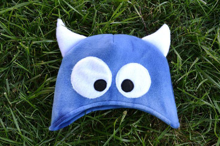 fleece monster hat pattern and tutorial