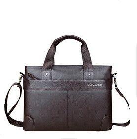 Mens business briefcase PU Leather Messenger Bag 12 Inch Laptop Bags Men Women Computer Notebook Shoulder Bag 14 Inch Laptop Bag