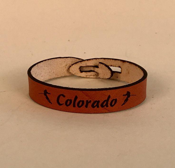 "215 ""Ski Colorado"" 12mm Leather Bracelet"