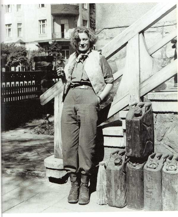 Lee Miller in Weimar, Germany, photo by David Scherman