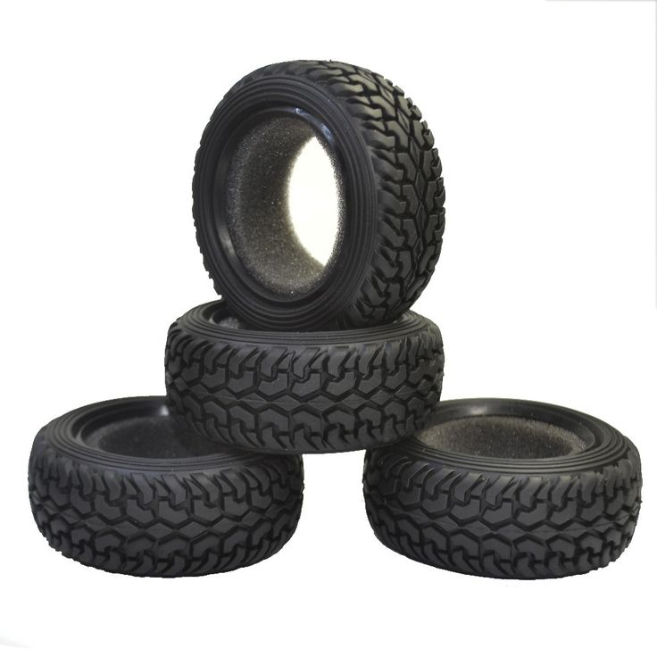 4PCS High Performance RC Rally Car Black Grain Rubber Tyre Tires for 1:10 4WD RC On Road Car Traxxas Tamiya HPI Kyosho HSP