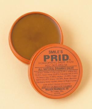 Prid is amazing stuff, ya'll. It helps dry up cystic acne from PCOS and other zits, bug bites, etc. It kinda stinks, but it's amazing.