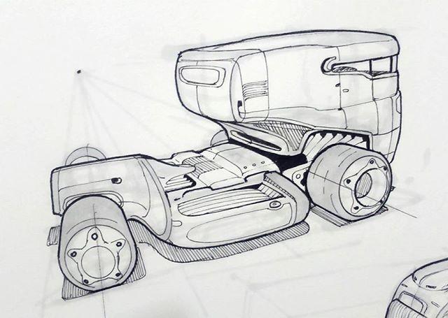 미래형 트레일러 스케치입니다 당장 전투에 투입될 것 같은 장갑차의 형태를 하고 있습니다 미래에는 트레일러도 굉장히 스포티한 디자인이 나올 것…