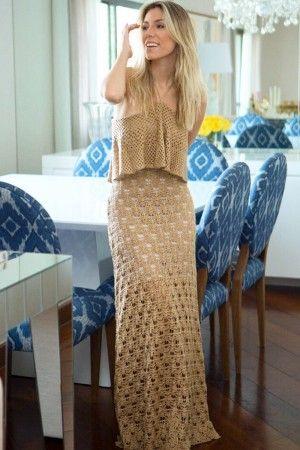 Vestido Decote Amarrar Conchita Avelã