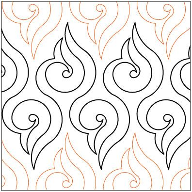 Lorien's Arabesque quilting pantograph pattern by Lorien Quilting