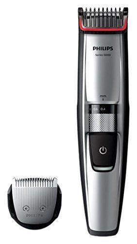 PHILIPS Séries 5000 BT5206/16 Tondeuse Barbe - 17 hauteurs de coupe (de 0,2mm à 1mm) et technologie Dual Cut