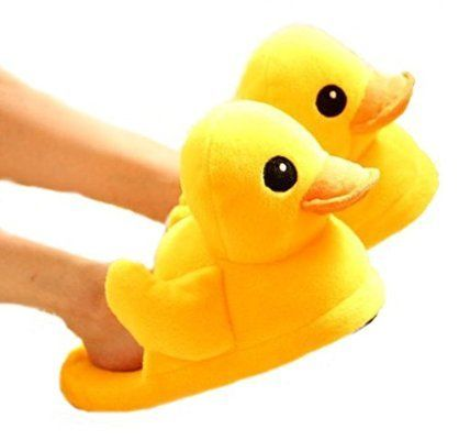 Cute Rubber Duck Winter Warm Slippers from Amazon