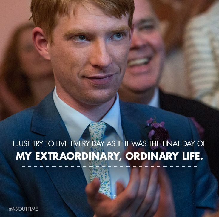 #abouttime #abouttimemovie #quote hands down BEST film of the year. Beautiful and impactful
