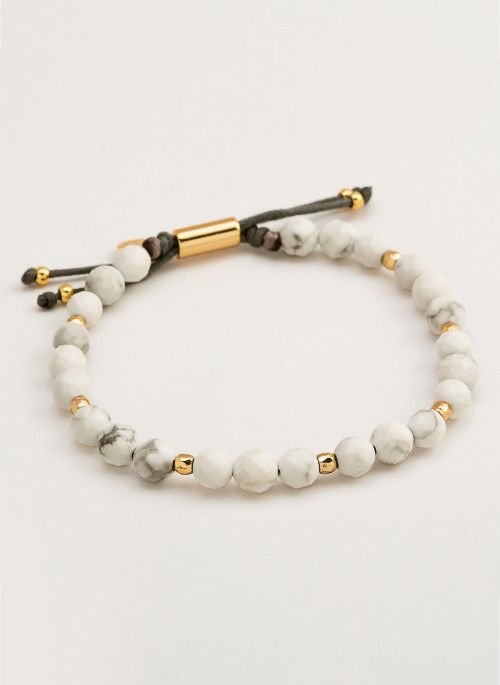 Gorjana Power Gemstone Howlite Beaded Bracelet For Calming