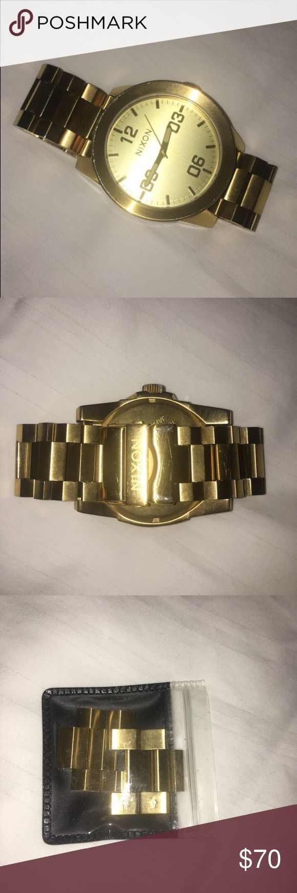 Gold plated watch few scratches but still decent condition Nixon Jewelry Bracelets