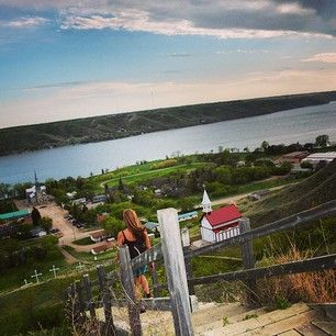 It's Worth The Climb - Lebret. Whoever says Saskatchewan is flat is sadly mistaken.