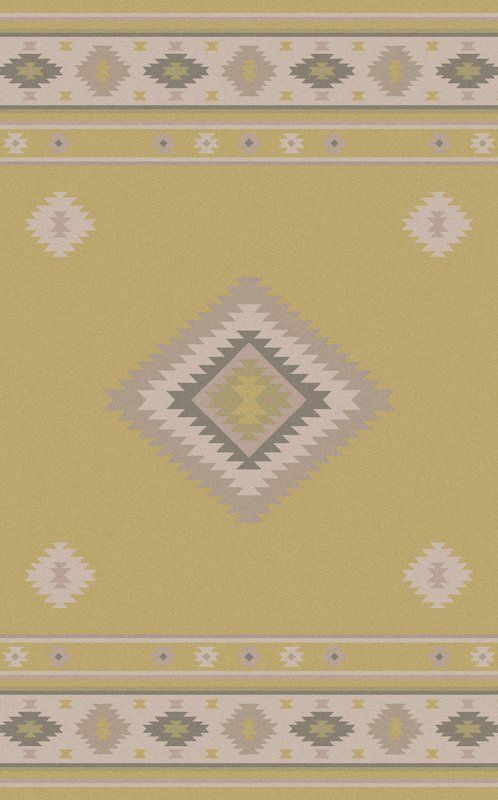 Anchor your living room seating group or define space in the den with this hand-woven wool rug, featuring a Southwestern diamond motif.