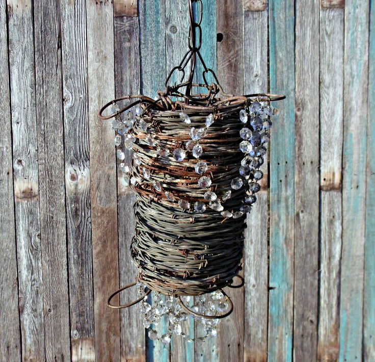 17 Best images about barbed wire chandelier – Wire Chandeliers