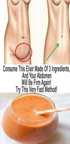 Drink this and say goodbye to flabby abdomen!