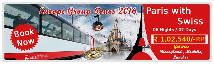 #ParasHolidays offers Best #GroupHoliday Tour Packages for #ParisGroupTours with #SwitzerlandGroupTours #EuropeGroupTours2016 from Delhi India. Get best discounted deals on group with Accommodation, Food, Transportation and Sightseeing.