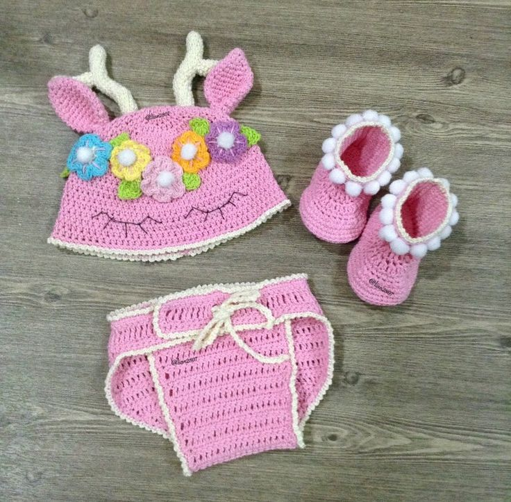 Crochet baby girl set