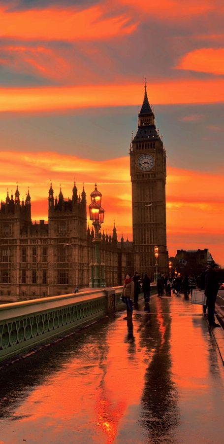 Westminster sunset, England