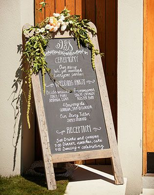 A chalkboard is the perfect vintage accessory. Image: Jessica Jones Photography