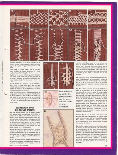 Romanian Point Lace (Macramé Crochet Lace) course from Anna Burda needlecraft magazine, January, 1990 issue.
