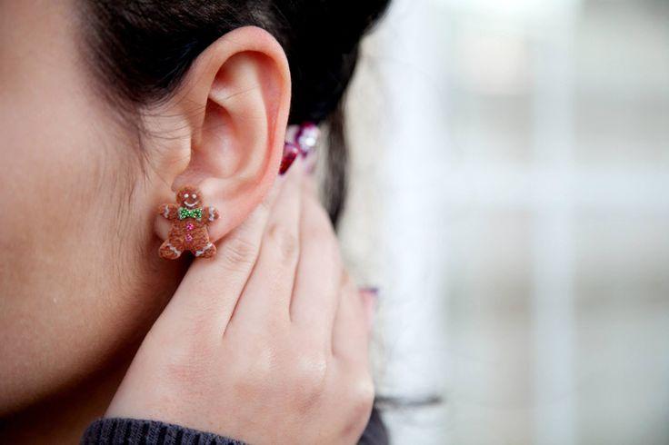 Ilianne | Jewelry Made of Love - Gingerbread Men Studs
