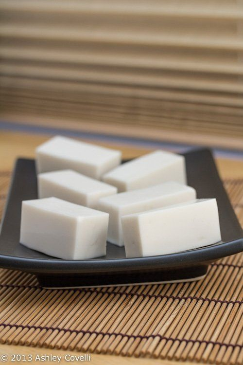 Coconut Jelly - a silky smooth, slightly sweet way to end any dim sum party!