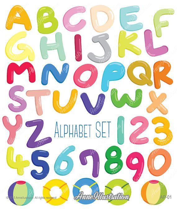 bubble alphabet clipart an1