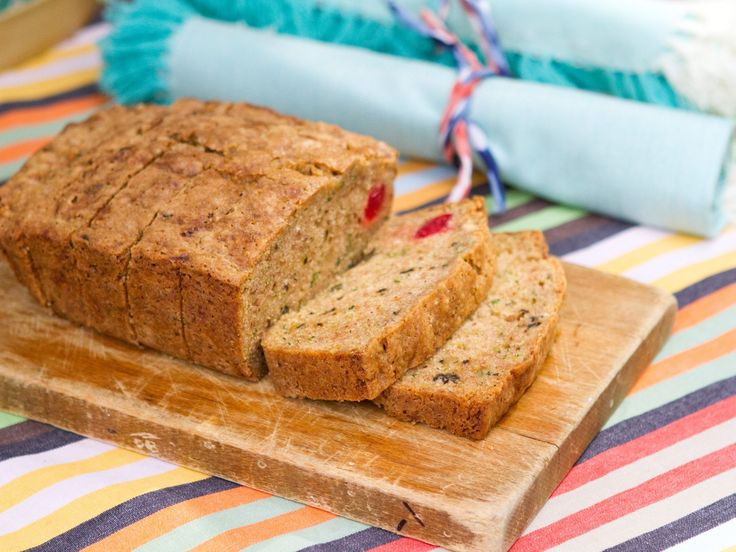 Zucchini Bread | Trisha Yearwood - For Xmas because of red cherries, green zucchini, white coconut. Makes 2 (for gifts?)