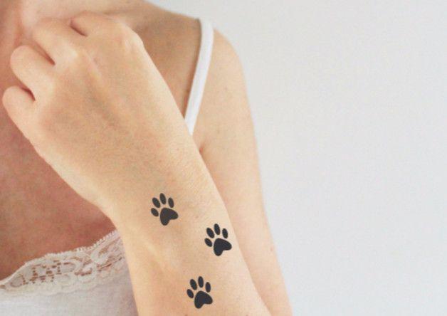 Vrac, tatouage temporaire motif de pattes de chat (3x3) est une création orginale de unbijoualamer sur DaWanda