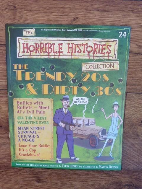 THE HORRIBLE HISTORIES COLLECTION MAGAZINE NO.24 THE TRENDY 20S & DIRTY 30S