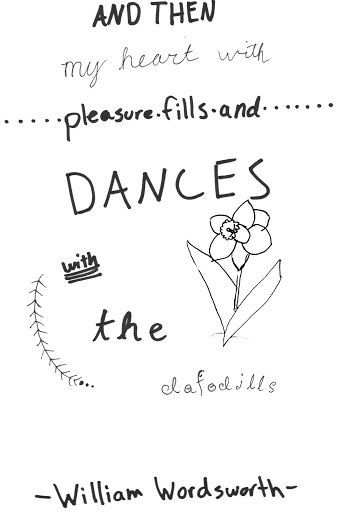 And then my heart with pleasure fills, and dances with the daffodils, William Wordsworth