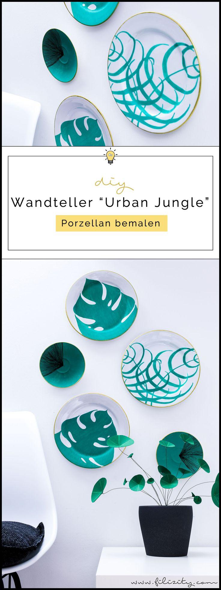 Enthält Werbung // Porzellan bemalen mit PILOT PINTOR – DIY Wandteller im Urban Jungle Style
