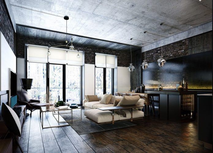 Industrial Style 3 Moderne Bachelor Wohnung Design Ideen Haus Deko Club In 2020 Apartment Design Modern Apartment Decor Luxury Home Decor