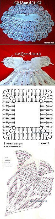 Детское платье крючком - работ | Crochê