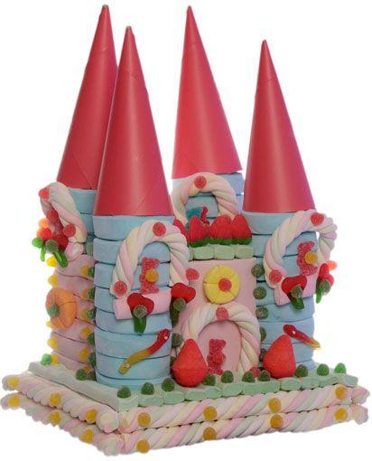 Tarta nubes y golosinas super castillo princesas [04-20014] - 47.85€ : Cosas43.es