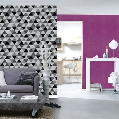 papier peint g om trique triangles noir et blanc gris papier peint pinterest papier peint. Black Bedroom Furniture Sets. Home Design Ideas
