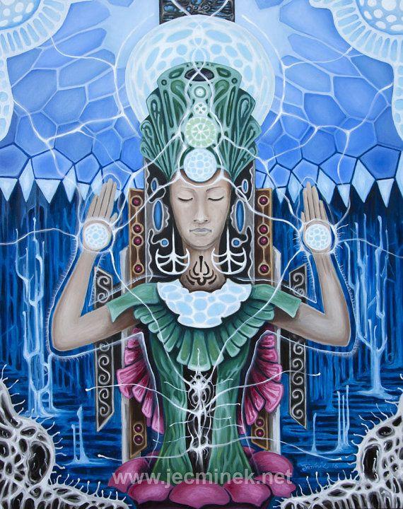 ARCHETYPE OF UNITY Original mystic oil by JakubJecminekArt on Etsy