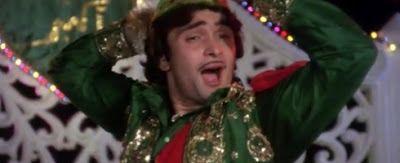 Rishi Kapoor as Akbar a Qawali Singer in Amar Akbar Anthony http://leojpeo.blogspot.in/2012/06/bollywood-stereotypes.html