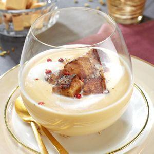 velouté de cocos blanc et de foie gras poêlé