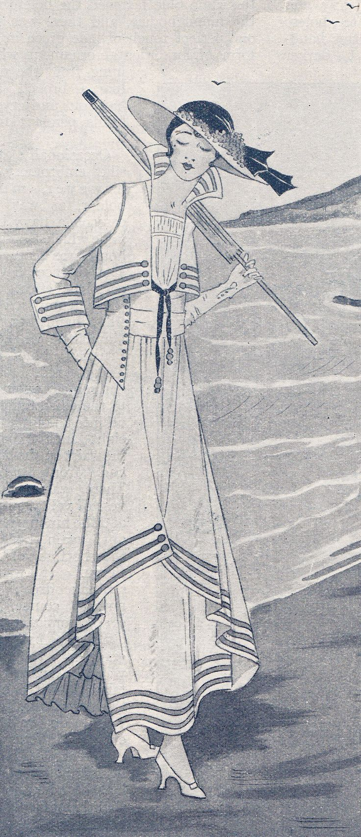 Costume Inspiration WW1 summer outfit, Paris Journal 1915-16, from the History Wardrobe collection
