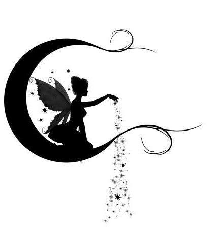 Fairy & Moon Dust #silhouette / Fata e Polvere di Luna #sagoma                                                                                                                                                      More