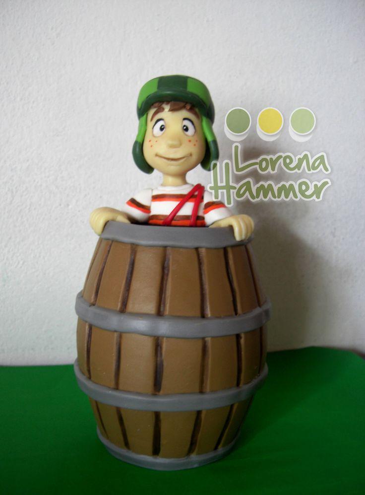 El Chavo ( basado en la version animada), porcelana fria Lorena Hammer