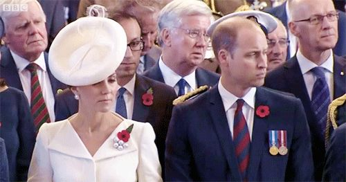 As part of the 100th anniversary of the Battle of Passchendaele, the Duke and Duchess of Cambridge joined the King and Queen of the Belgians for a ceremony at Menin Gate in Ypres. In a particularly poignant moment, thousands of poppies- symbols of remembrance- were dropped from the roof. Each poppy represents a name inscribed on Menin Gate.