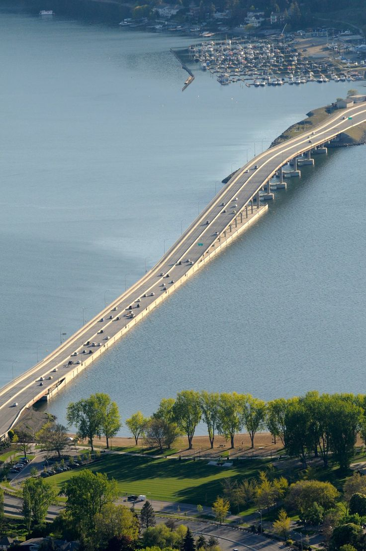 Kelowna, BRITISH COLUMBIA. We went over this bridge many times on our way to Silverstar Mountain from Vancouver in the 90s