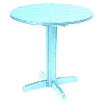 Outdoor CR Plastic Generations 37 in. Round Pub Height Table Aqua - TBT23-11