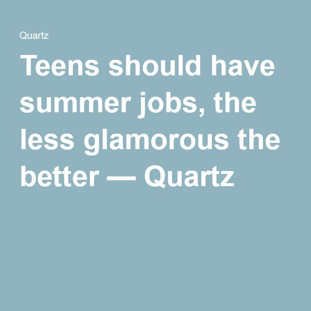 Teen summer jobs ideas