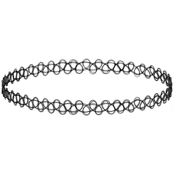 Girlprops Stretch Tattoo Choker Necklace Hippie Popular in the 80S... ($6.99) ❤ liked on Polyvore featuring jewelry, necklaces, hippie necklace, stretch choker necklace, black stretch choker, 80s necklace and choker necklace