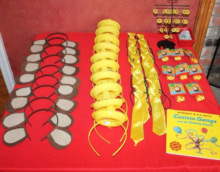 """""""Curious George""""-inspired first birthday party   CatchMyParty.com"""