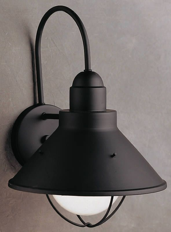 14 inchh seaside 1 light outdoor wall lantern black