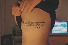 57 Female Quotes Tattoos Designs | Tattoos Mob